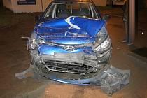 Nehoda opilého řidiče v Olomouci