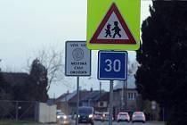 Dopravní značení v olomoucké městské části Droždín