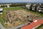 Výstavba nového hřiště s umělým povrchem v tréningovém areálu SK Sigma v Řepčíně.