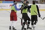 Fotbalisté Sigmy Olomouc měli poslední trénink na zimním stadionu