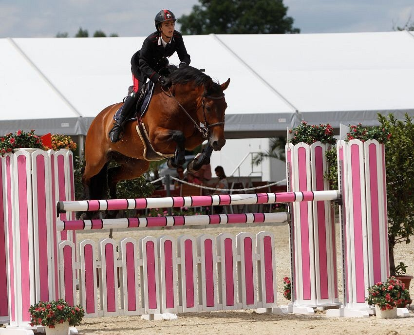 Filippo Marco Bologni. Světový pohár CSI*** Olomouc. Závody pro šestileté a sedmileté koně.