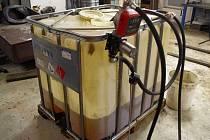 Tankovací zařízení na nezdaněnou naftu