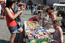 Prvomájový Ekojarmark na olomouckém Horním náměstí