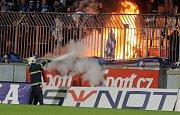 Sektor ostravských fans na Andrově stadionu