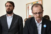 Bývalí ředitelé Muzea umění Michal Soukup (vpravo) a Ondřej Zatloukal (vlevo)