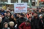 Pochod a demonstrace v Olomouci.