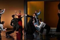 Zkouška baletní inscenace Krvavé svatby v Moravském divadle Olomouc