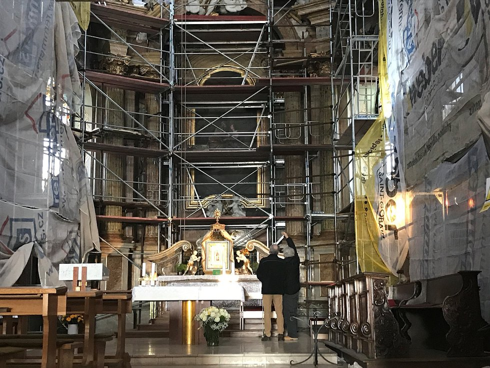 Bazilika Navštívení Panny Marie prochází rozsáhlou rekonstrukcí, která by měla trvat do konce roku. Během oprav je kostel přístupný, však velkou část interiéru  zakrývá lešení.