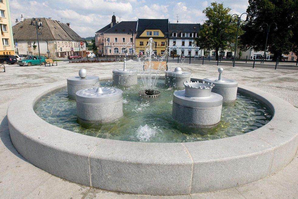 Náměstí v Moravském Berouně zrekonstruované v roce 2010. Ilustrační foto