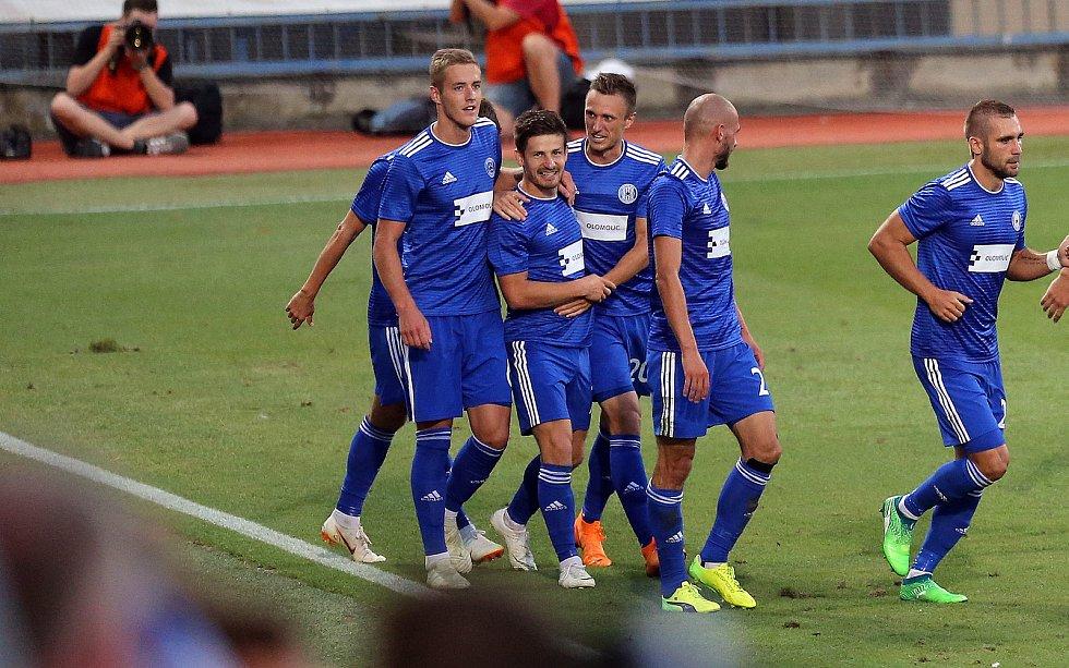 euro pohár SK Sigma - FC Kairat Almaty. Václav Pilař a Šimon Falta - radost