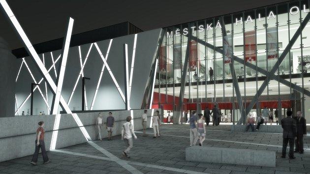 Nové vizualizace přestavby zimního stadionu vOlomouci na Městskou halu