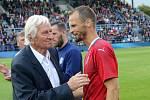 Karel Brückner a David Rozehnal na Zápase století v září 2019 na Andrově stadionu v Olomouci