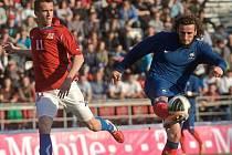 Česká fotbalová reprezentace do 21 let v přípravě s Francií v Olomouci