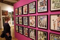 Výstava Hommage ā Kája Saudek v olomouckém Muzeu umění.