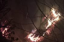 Požár ve vojenském prostoru Libavá, 15. 6. 2019