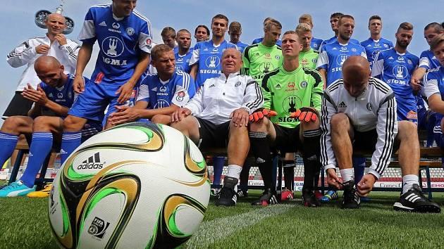 Focení fotbalové Sigmy před startem druholigové sezony