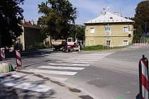 Přechod v Opavské ulici ve Šternberku