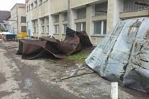 Následky silného větru v Olomouckém kraji. 24. února 2017