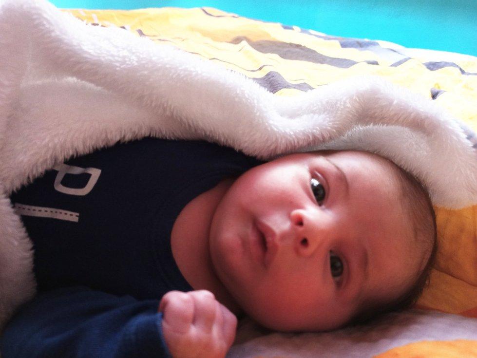 Jakub Hejč, Plumlov, narozen 5. dubna v Prostějově, míra 51 cm, váha 4300 g