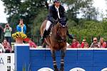 Francesco Turturiello (It.) a Boston. Světový pohár v jezdeckém areálu Equine Sport Centre v Olomouci