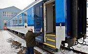 Prototyp modernizovaného osobního vozu, který si u šumperské společnosti Pars nova objednaly České dráhy
