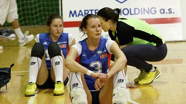 Volejbalistky Olomouce smutní po vyřazení od Frýdku-Místku