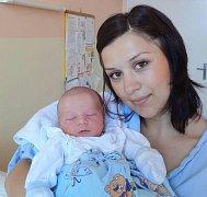 Jakub Tuška, Olomouc, narozen 10. září v Olomouci, míra 50 cm, váha 3350 g