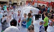 Děti se loučily s prázdninami na Horním náměstí v Olomouci, program pro ně připravili dobrovolní hasiči a městská policie