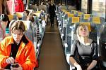 Vlak společnosti LeoExpress. Ilustrační foto