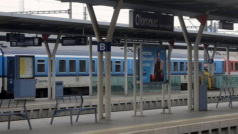 Hlavní nádraží Olomouc.