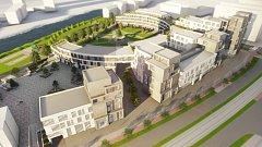 Vizualizace BEA campus Olomouc - city business residence