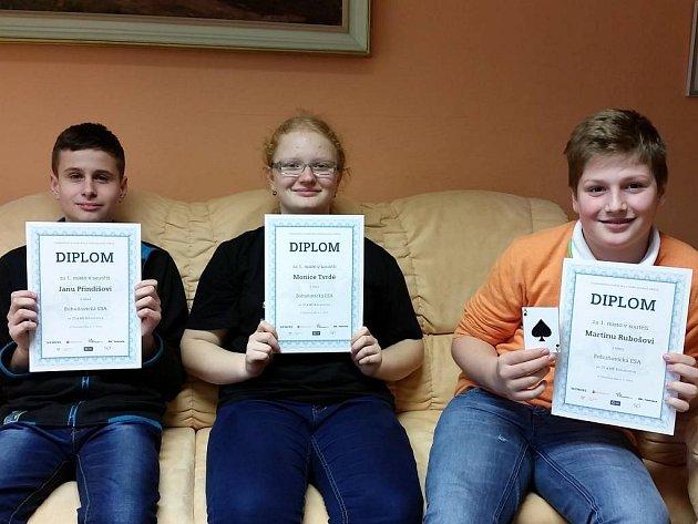 Žáci ze Základní školy v Bohuňovicích se zúčastnili soutěže s názvem Hra s elektromotory a vyhráli.