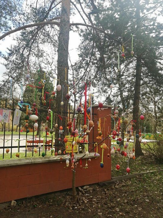 Kraslicovník MŠ Barevný svět v Olomouci