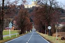 Silnice mezi Olomoucí a Svatým Kopečkem