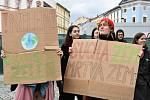 Protestující studenti středních škol v Olomouci