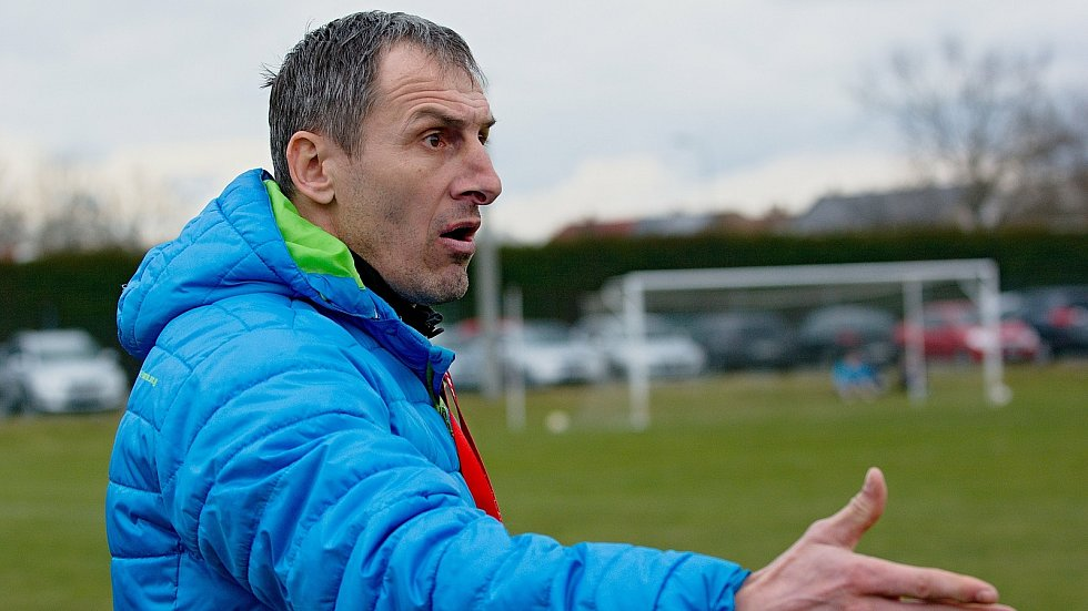 Trenér HFK Olomouc Jiří Derco