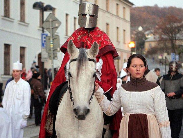 Svatomartinský průvod ve Šternberku