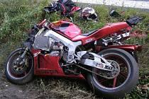 Honda po havárii.