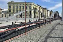 Most v Masarykově třídě v Olomouci, 30. března 2021