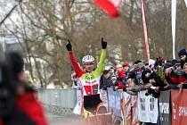 V Lošticích se jel závod mistrovství České republiky v cyklokrosu. Vítěz Martin Bína.