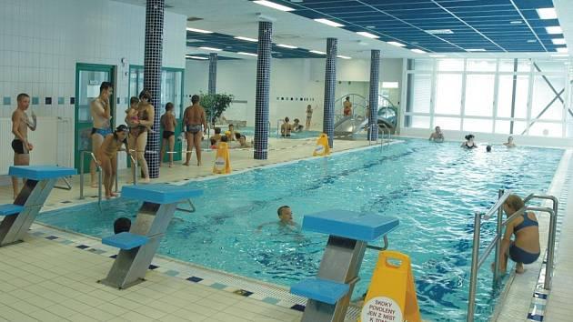 Kryté bazény Centra zdraví v Bohuňovicích.