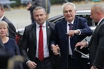 Prezident Miloš Zeman na návštěvě Olomouckého kraje
