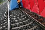 Místo tragédie na rychlíkové trati nedaleko Hlušovic