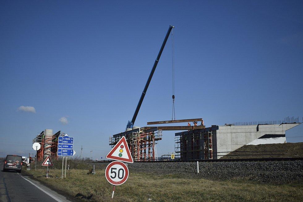 Prostějov - stavba severního obchvatu, březen 2021