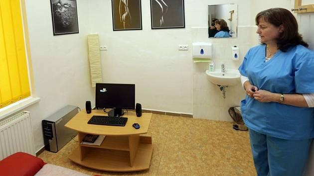 Odběrová místnost specializované spermobanky v Olomouci