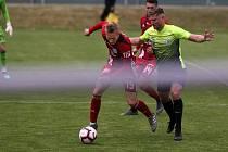 Fotbal za plotem.Přípravné utkání SK Prostějov - SK Sigma Olomouc.