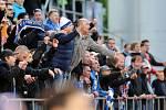 Radost skupinky fanoušků Baníku na Andrově stadionu