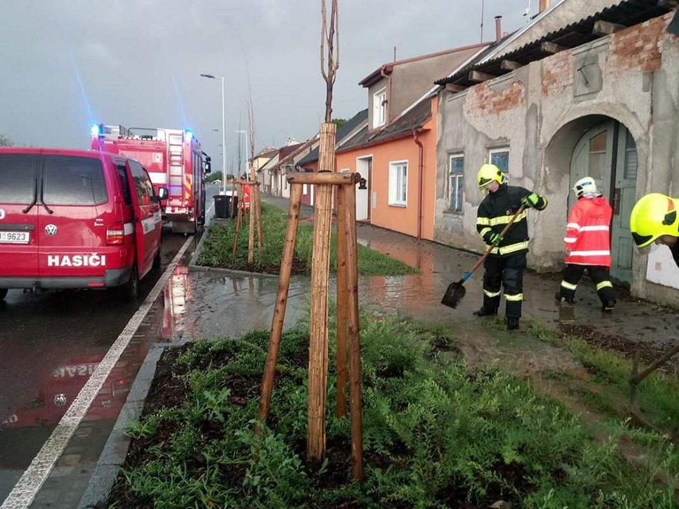 Následky bouřky v Lošticích, 1.7.2019