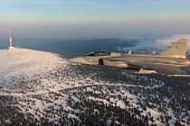 Praděd z gripenu - z videa pilotů 21. základny taktického letectva Čáslav