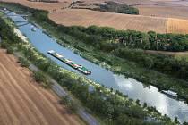 Vizualizace vodního koridoru Dunaj-Odra-Labe